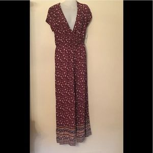 Rewind Floral Jumpsuit Aurora Red New With Tag
